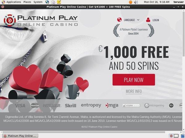 Platinumplay Live Casino