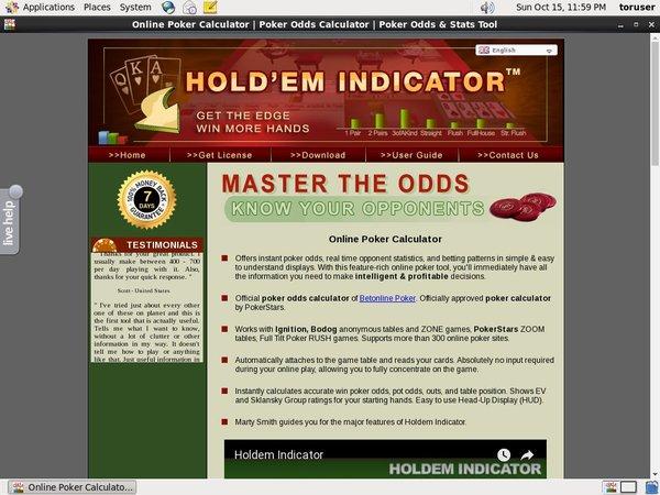 Holdem Indicator No Download