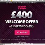 Chompcasino Bonus Offer