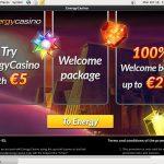 Energycasino New Account Offer