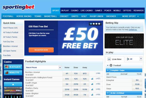 Sporting Bet Free Bet Code