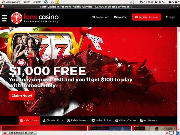 Live Fone Casino Bonus