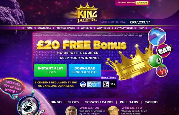 King Jackpot Euros No Deposit