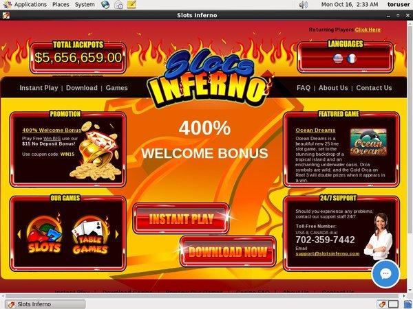 Slots Inferno Start Account