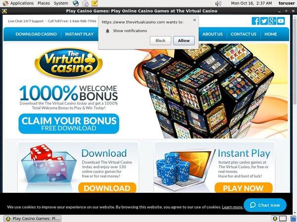 Virtual Casino Free Spins No Deposit