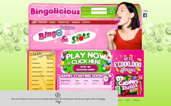 Bingolicious Paypal Slots