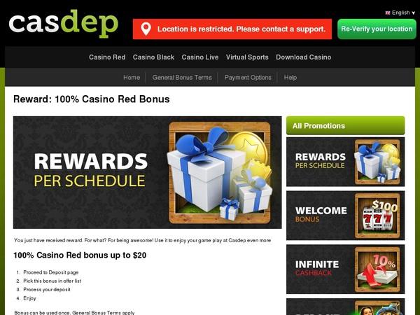 Casdep Sign Up Deal