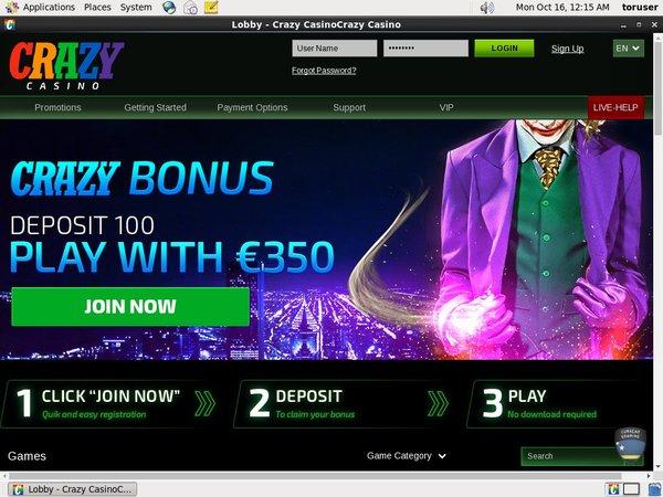 Crazy Casino Online Casino