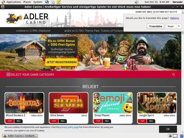 Adler Casino Free Code
